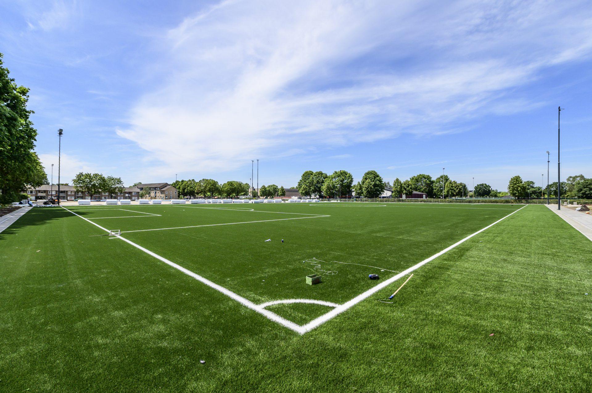 Hoek voetbalveld