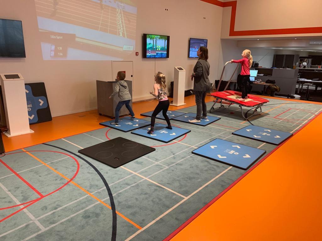 Bewegende kinderen. Een sportinnovatie die beweging van kinderen stimuleert.