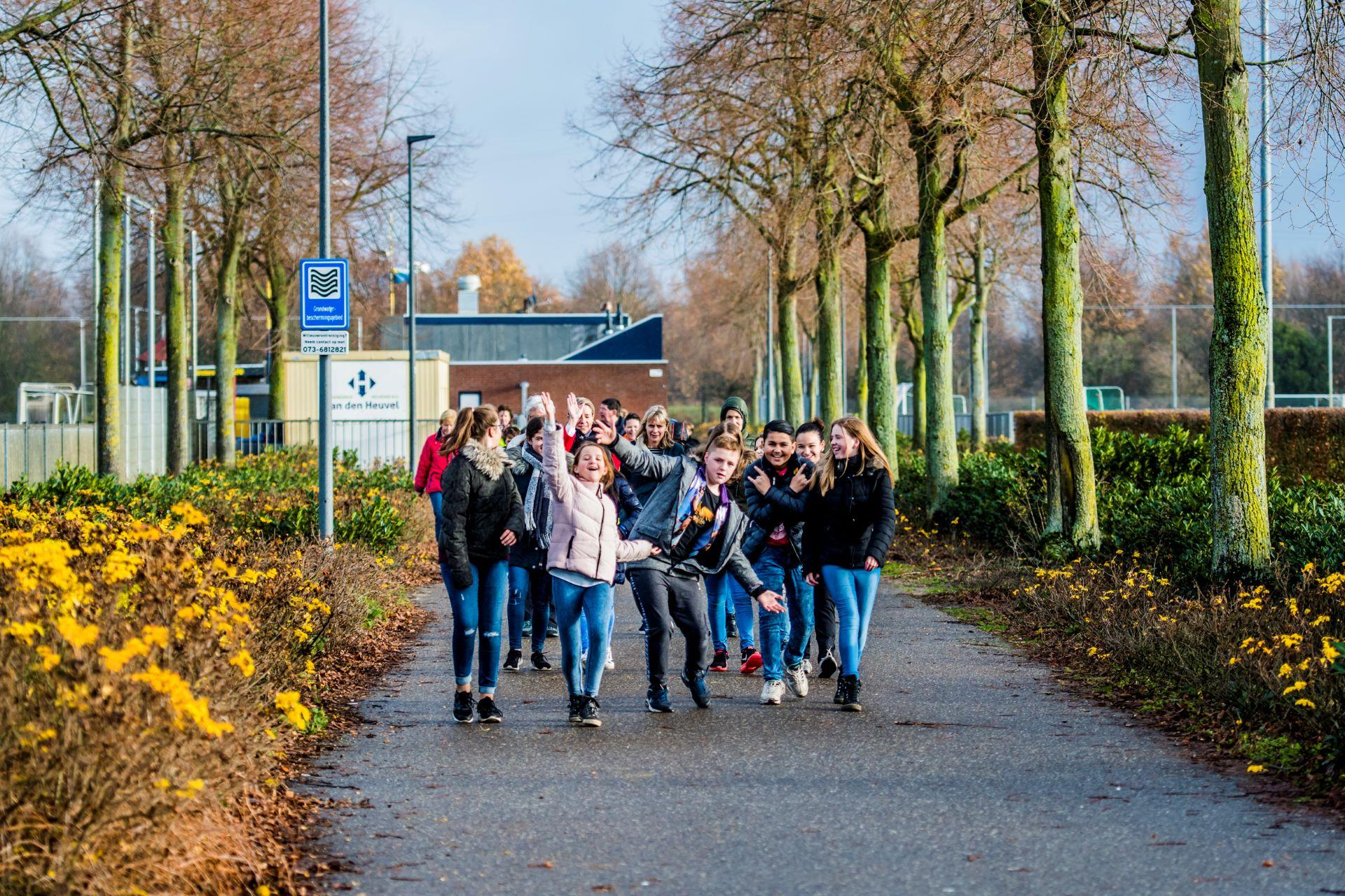 Beweegroute Campus De Braak met leerlingen basisschool