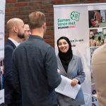 Infostand over onderwijs op Campus De Braak