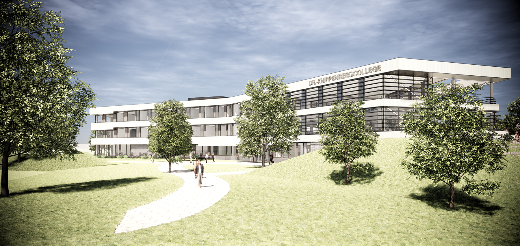 Impressie van het ontwerp van het Dr. Knippenbergcollege