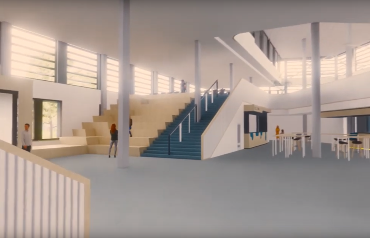 Impressie van ontwerp binnenzijde Knippenbergcollege