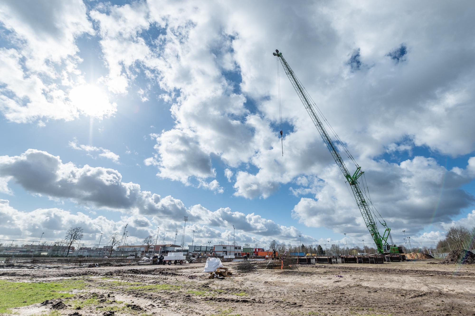 bouwplaats dr. Knippenbergcollege maart 2020