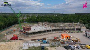 De eerste verdieping van het nieuwe Knippenbergcollege in aanbouw
