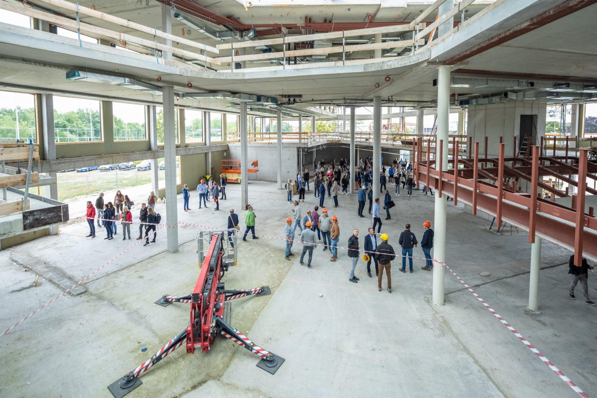 School in aanbouw binnenzijde